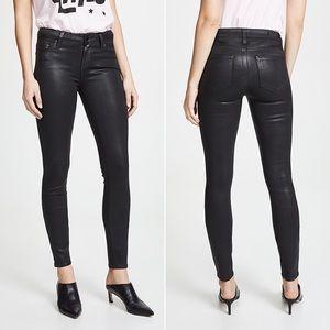 Paige Verdugo Ultra Skinny Jeans Silk Navy Coated